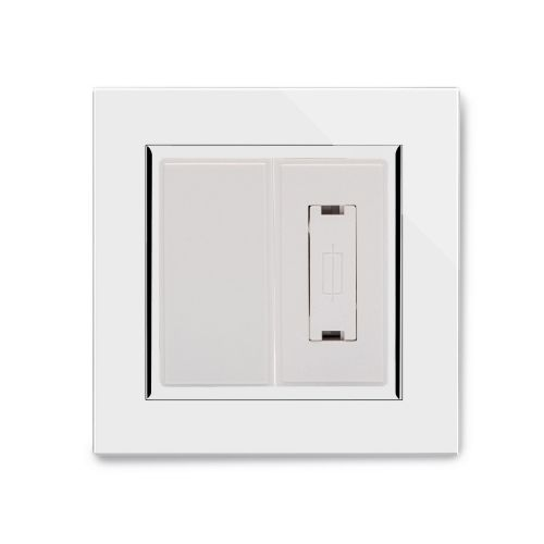 RetroTouch 13A Unswitched Fused Spur White Glass CT 04320